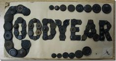 ButtonArtMuseum.com - Barbara's Buttons  - there was a card of Goodyear Rubber buttons.  Isn't this a clever way to mount them?