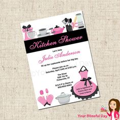 PRINTABLE Kitchen Bridal Shower Invitation by yourblissfulday, $10.00