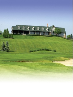 Covered Bridge Golf Club Clubhouse. View from hole #18.