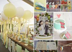 AHH i just fell in love with this theme! Pixar's Up wedding