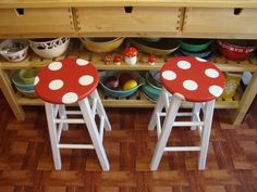 my kids would dig these mario brothers mushroom lookn stools