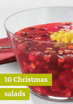 10 Christmas Salads – Christmas salads are a celebration of in-season winter greens, colorful citrus wedges and classic sweet and savory JELL-O salads.