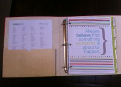 Complete Home Management Binder. Great ideas, tips.