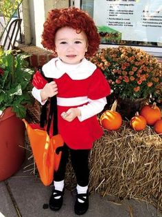 Jen Marra / Emily Williams, 2, of Hammonton is dressed up as Annie for trick or treat.
