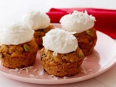 Low-Fat Carrot Cupcakes with Homemade Low-Fat Cream Cheese Frosting from CookingChannelTV.com