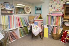 Just one of the many cute corners in the shop :) #MissouriStarQuiltCompany