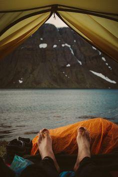 Tent. Lake. View:)