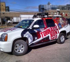 Sneak Peek at the chase vehicle for Tornado Hunt 2013. The hunt begins April 29th. Photo Credit: Sr. Producer at The Weather Channel, Mike Jenkins