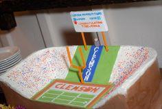 football cakes, footbal cake, clemson cake