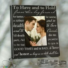 Wedding photo frame. Click through to add your own pic and save this!  #wedding #photographer #photography #weddinggift #vows #frame