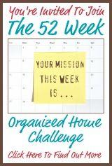 52 week organize challenge