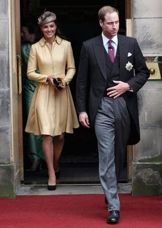 Kate Middleton Wears Yellow For a Special Service With William  JULY 5, 2012   Prince William installed as a Knight in the Order of Thistle (Scotland's highest honor)