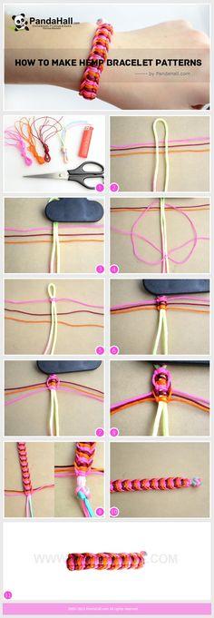 How to make hemp bracelet patterns ❥ 4U // hf