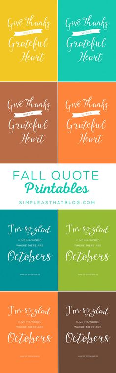 Fall Quote Printables