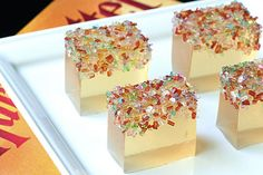Butterbeer Jello Shots (from Tablespoon)