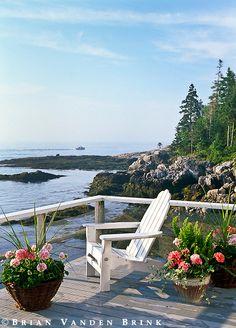 decks, beauti deck, dream, coastal maine, beach, place, porch, peac, live
