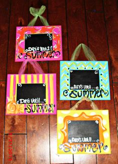 Would be cute for kids birthday countdown. DAYS UNTIL SUMMER chalkboard Countdown/ by TheWaywardWhimsy, $18.00
