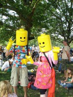 Lego heads.