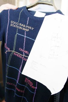Coco railway station map by Chanel from Bubblestyle | Itfashion.com