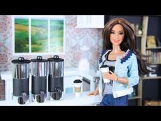 How to Make A Doll Coffee Cup and Coffee Dispenser