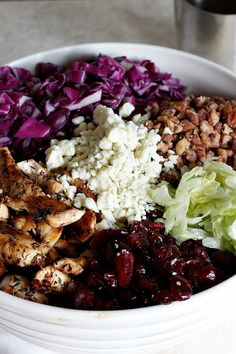 Cranberry, Pecan, and Gorgonzola Salad with Apple Cider Vinaigrette
