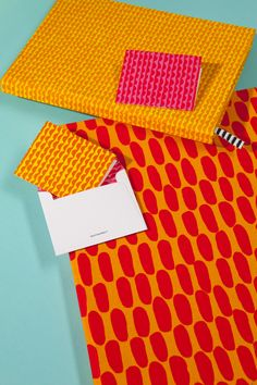 Marimekko´s colorful orange and magenta Stationery makes a statement