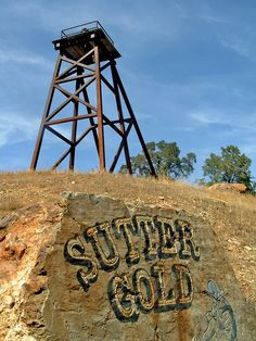 gold mine, display idea, art display, sutter gold