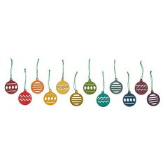 Alpine Baubles Set Of 24