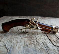 Blunderbuss Pistol 1780 Gun Avon Glass Bottle. $25.00, via Etsy.