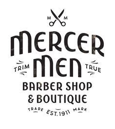 "beautifultype-  ""Mercer Men"": lettering handcrafted by Simon Walker"