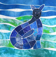 """""""Snookums""""  art quilt by Pamela Priday - Latitude Quilts"""