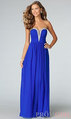 Strapless Evening Gown JVN by Jovani at PromGirl.com