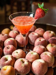 Southern Smash  1½ oz. Cîroc Peach Vodka 3 strawberries 4 lemon wedges ¾ oz. simple syrup Garnish: strawberry  To make simple syrup, mix equal parts hot water and sugar until sugar is dissolved. Muddle strawberries and lemon in a cocktail shaker. Add vodka, simple syrup, and ice. Shake vigorously and strain into a martini glass. Garnish with a strawberry.