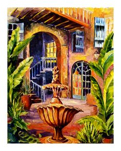 French Quarter Courtyard in New Orleans ~ Diane Millsap