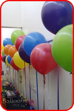 17inch round balloons in bright colours - FUN!