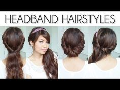 Easy Everyday Headband Hairstyles for Short and Long Hair Tutorial - YouTube