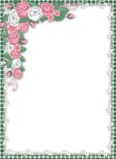 Love PNG Transparent Frame with Roses.