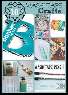 Washi tape crafts. You can never have too much washi tape!