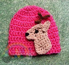 Baby Crochet Deer / Hunting Hat by BrightCrochet on Etsy, $19.00