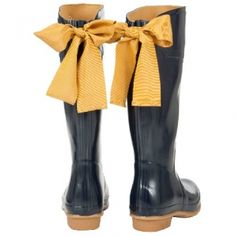 Joules Welly with Bow (Evedon) - Navy Blue