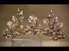 acorn motif diamond tiara - 19th century English