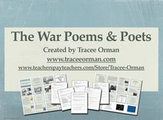 The War Poems and Poets Presentation & Handouts {available as a digital download for the first time}