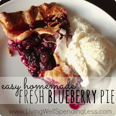 Best Easy Homemade Blueberry Pie Recipe | How to Make Blueberry Pie