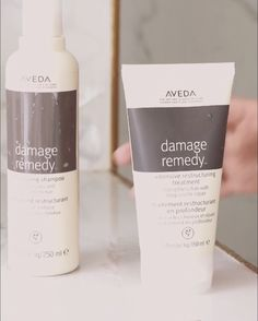 How to Self Care Sunday and treat hair damaged from heat styling, chemical damage from hair color, physical damage and more. Strengthen and repair with these Aveda cruelty-free hair products. 1) Vegan and packed with quinoa protein, start with Aveda Damage Remedy sulfate-free Restructuring Shampoo and Conditioner. 2) Wash and apply Damage Remedy treatment hair masque for healthy, smooth and strong hair. Leave in this hair mask for damaged hair for 2-5min. 3) Rinse and dry naturally.