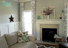 Travertine fireplace wall colors, living rooms, living room colors, window pane, paint colors, live room, room makeovers, benjamin moore, curtain