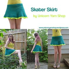 Crochet Skater Skirt by Unicorn Yarn Shop; with details to make your own!