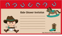 Free Printable Cowboy, Cowgirl Baby Shower Invitations