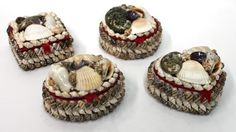 Small Shell Boxes (Set of 4)