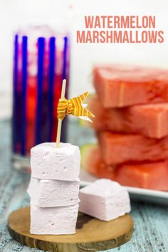 Homemade Watermelon Marshmallows: I used watermelon candy flavoring and added citric acid to make sour watermelon - came out like a Jolly Rancher candy. Top 5 batch. Made July 2014