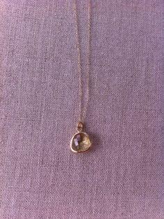 Valerie faceted gem necklace by AudrasDetails on Etsy, $32.00